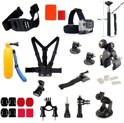 17-in-1 Accessories Kit Mount Adapter, Borst / Head Strap, Monopod voor Gopro Hero 1 2 3 3+ 4 en Actioncam