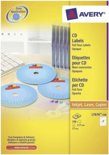 Avery printeretiketten  White Full Face CD/DVD Label - Laser - L7676