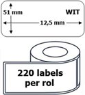 100x Dymo 99017 compatible 220 labels