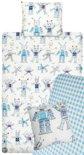 Beddinghouse Kids Funny Robots - Dekbedovertrekset - inclusief hoeslaken en sierkussensloop - 1-persoons - 140x200/220 - Blauw