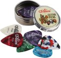 Plectrums in blikken doosje - 12 stuks Celluloid plectrum set