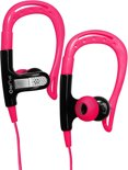 Puro Stereo In-Ear Earphone Sport w/Earhook and Round Cable and Answer Button Lime Pink