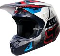 2016 Fox Racing V2 Vicious Crosshelm Blauw/Wit Small