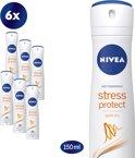 NIVEA Stress Protect - 150 ml - Deodorant - 6 st - Voordeelverpakking