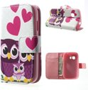 Samsung Galaxy Young 2 Wallet Stand Case Uil Familie