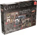 Game of Thrones Puzzel Box - Legpuzzel - 3x500 Stukjes