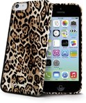 Celly iPhone 5C Gelskin Case Brown Animal