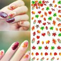 Nail art stickers herfst blaadjes +-70 pcs