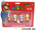 Nintendo Toad : 4 Mini Figuren