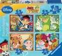Jake & The Neverland Pirates - 4 in 1 Kinderpuzzel