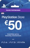 Sony PlayStation Network Voucher Card 50 Euro Nederland - PS4 + PS3 + PS Vita + PSN
