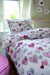 Beddinghouse Lots of Hearts dekbedovertrek - Pink - 1-persoons (140x200/220 cm + 1 sloop)