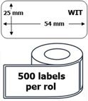100x Dymo 11352 compatible 500 labels  / 25 mm x 54 mm / wit / papier