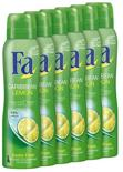 Fa Deospray Caribbean Lemon - 6 stuks - Voordeelverpakking