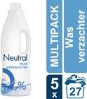 Neutral 0% Parfumvrij Vloeibaar - 750 ml - Wasverzachter - 5 stuks - Voordeelverpakking