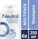 Neutral 0% Normaal Parfumvrij - 250 ml - Shampoo - 6 stuks - Voordeelverpakking
