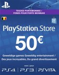 Belgische Sony PlayStation Network Voucher Card 50 Euro België - PS4 + PS3 + PS Vita + PSN