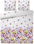 Papillon Viool dekbedovertrek - Multi - Lits-jumeaux (240x200/220 cm + 2 slopen)
