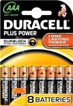 Duracell Plus Power AAA Alkaline Batterijen 8x Pak