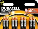Duracell Plus Power AA Alkaline Batterijen 8x Pak