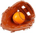 Baseball glove with ball 2pc