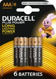 Duracell Plus Power AAA Alkaline Batterijen 6 stuks