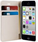 PURO iPhone 5C Leather Folio Case - Wit with Cardslots