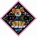 Knutselpakket Pailletten Sequin My Name Puppy