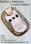 245- Owl Baby Cocoon Crochet Patterns #245