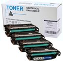 Set 4X Compatible Toner voor Hp 646A 646X Clj Enterprise Cm4540Fmfp