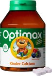 Optimax Kinder Calcium - 60 Kauwbeertjes - Mineralen