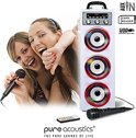 Pure Acoustics MCP-30 Multimedia karaoke systeem met discolicht (wit)