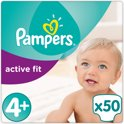 Pampers Active Fit - Maat 4+ Jumbo Pack 50 luiers