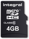 Integral UltimaPro - Flash memory card ( microSDHC to SD adapter included ) - 4 GB - Class 10 - microSDHC