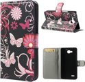 Wallet Stand Case Huawei Honor 3X Butterfly