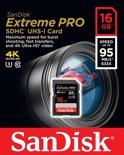 Sandisk Extreme PRO UHS-1 SD kaart 16 GB