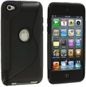 Apple iPod Touch 4 Silicone Case s-style hoesje Zwart