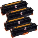 Value pack compatible HP 305A Toner Cartridges, 4 pak. CE410X Zwart XL, CE411A Cyaan, CE412A Magenta, CE413A Geel