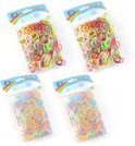 2400 Loomfun Loom Bandjes - Elastiekjes - Mixed color en Glow in the dark