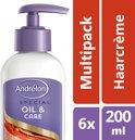 Andrélon oil & care Kroes Control - 200 ml - crème - 6 st - voordeelverpakking
