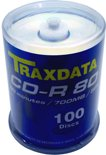 Traxdata CD-R 52x 100pk + CD/DVD Cleaner