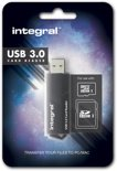 Integral SD/MicroSD Card Reader USB 3.0 Black