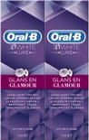 Oral-B 3D White Luxe Glamour Shine - 2 x 75ml - Tandpasta