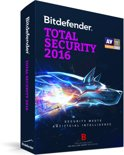 Bitdefender Total Security 2016 - 1 jaar, 3 computers
