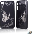 iPhone 4 en 4S Hard Case Hoesje - Black Butterfly