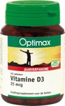 Optimax Vit D3 25µ - 365 Tabletten  - Vitaminen