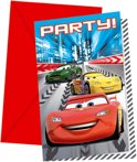 Cars invitations, 6pcs.