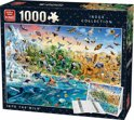 Puzzel Box Masterpieces into the wild - Legpuzzel - 1000 Stukjes