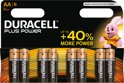 Duracell Plus Power AA Alkaline Batterijen 8 Stuks