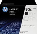 HP 90X originele toner cartridge zwart high capacity 24.000 pagina's 2-pack